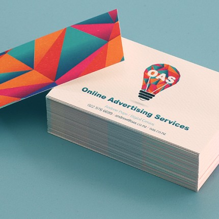 Business cards specialty stock white felt 270gsm reheart